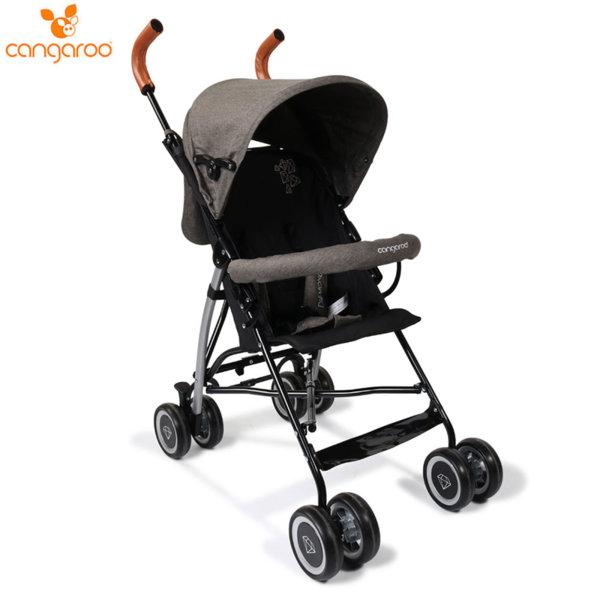 Cangaroo Детска лятна количка Diamond сива 106845