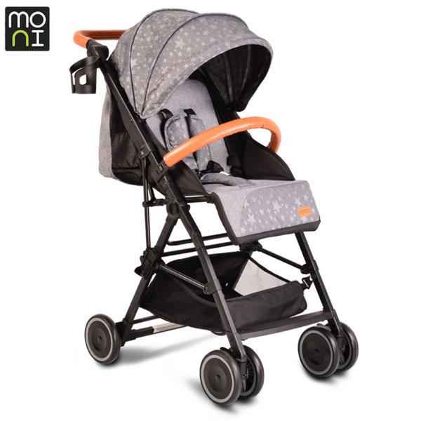 Moni Детска лятна количка Compact сива 106916