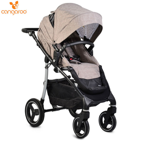 Cangaroo Комбинирана детска количка 3в1 4x4  бежова 107006