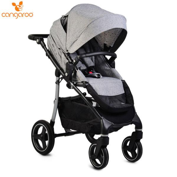 Cangaroo Комбинирана детска количка 3в1 4x4 сива 107007