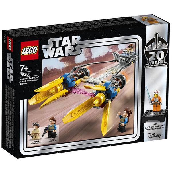 Lego 75258 Star Wars Подрейсърът на Анакин I Издание за 20-годишнината на ЛЕГО СТАР УОРС