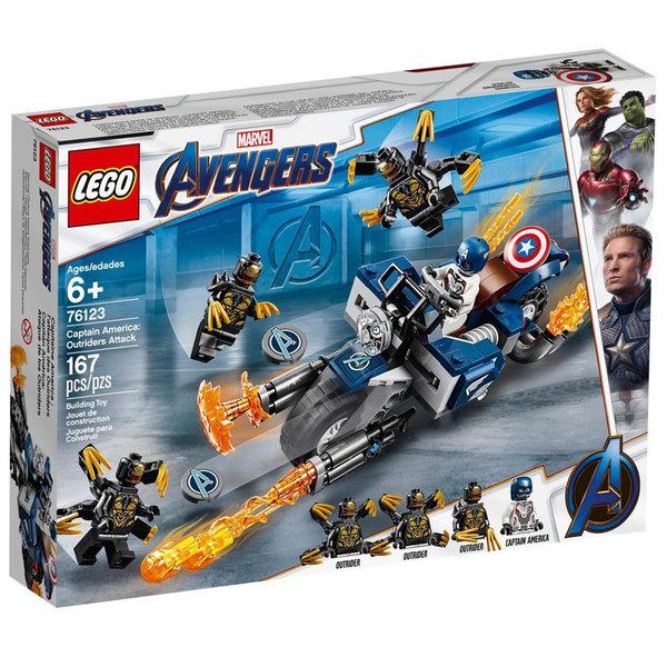 Lego 76123 Super Heroes Marvel Avengers Капитан Америка: Моторизирана атака