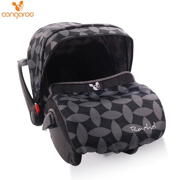 Cangaroo Детско столче кошничка за кола Rachel (0-13кг) сиви листа 106585