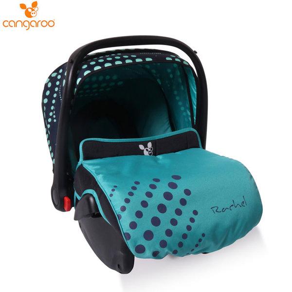 Cangaroo Детско столче кошничка за кола Rachel (0-13кг) сини точки 106586