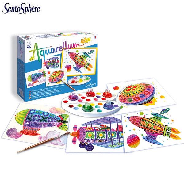 SentoSphere Комплект за оцветяване с акварелни бои Полет 678