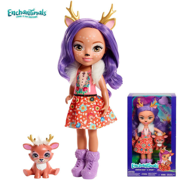 Enchantimals Пазители на гората Кукла Danessa Deer 30см FRH51