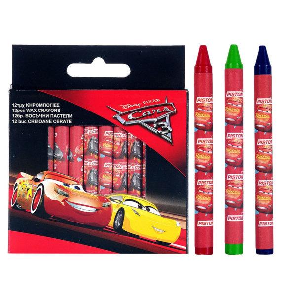 Disney Cars Восъчни пастели 12 бр Колите 7164