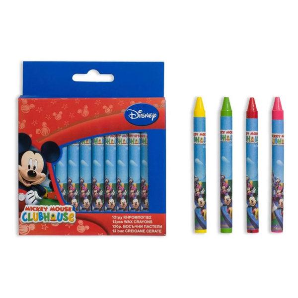 Disney Mickey Mouse Восъчни пастели 12 бр Мики Маус 71942
