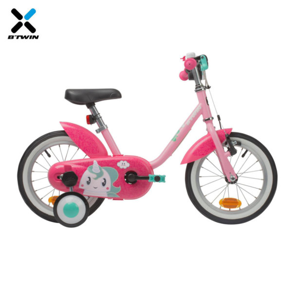 "B'TWIN Детски велосипед Unicorn 14"" 801174"