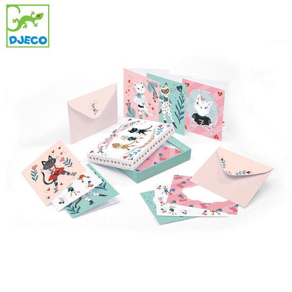 Djeco Lovely paper Кутия с картички и пликове Lucille DD03607