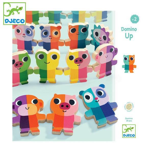 Djeco Дървено домино с фигурки Domino Up DJ01641