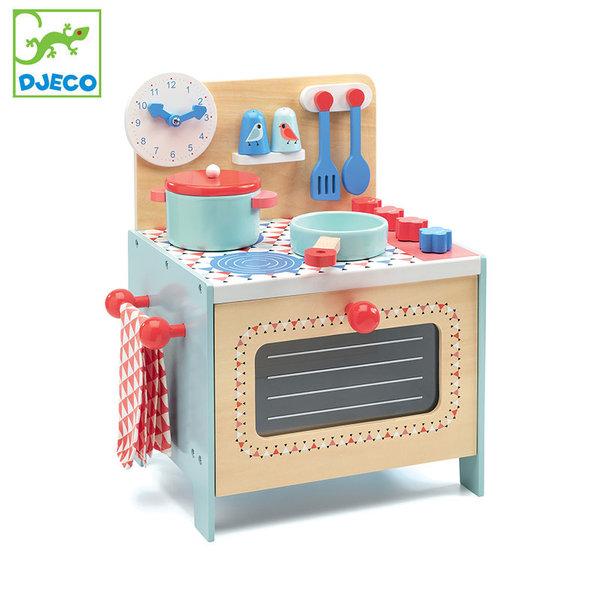Djeco Дървена кухня с аксесоари DJ06507