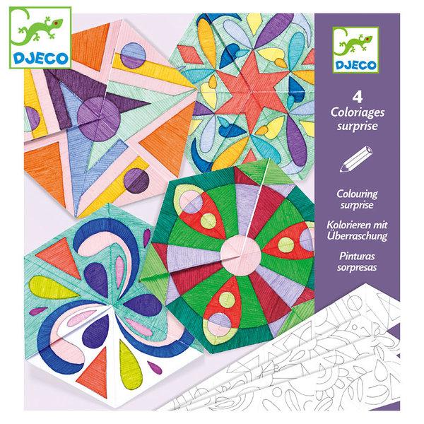 Djeco Картини за оцветяване Rosette Mandalas DJ09656