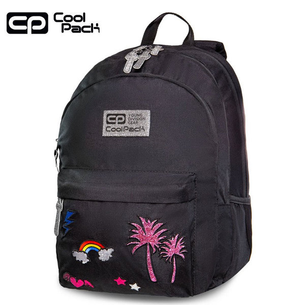 Cool Pack Hippie Ученическа раница Sparkling badges black B33084