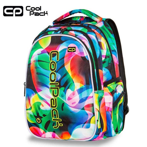 Cool Pack Joy LED Ученическа светеща раница Rainbow leaves A21210