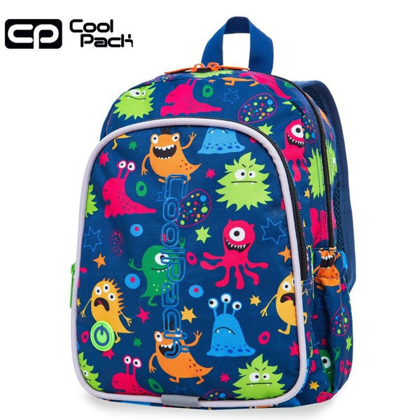 Cool Pack Bobby LED Раница за детска градина светеща Funny Monsters 23206