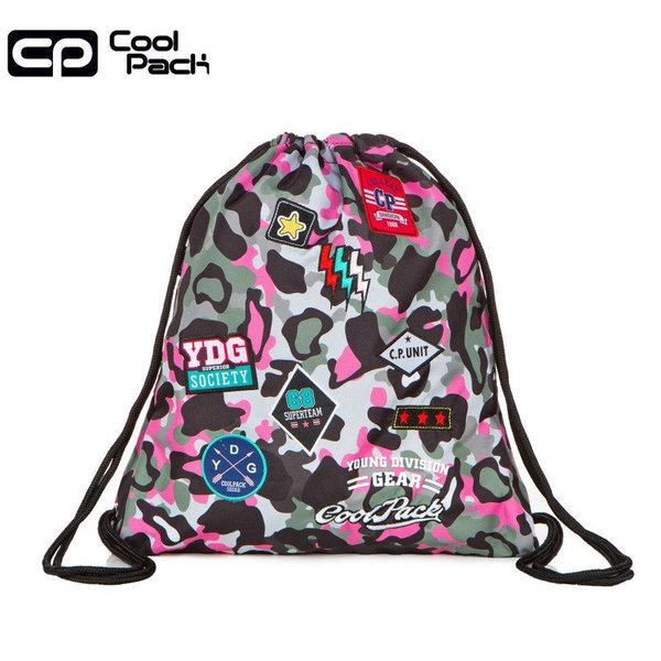 Cool Pack Sprint Спортна торба Camo pink badges A73112