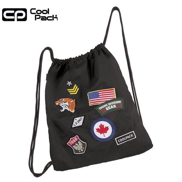 Cool Pack Sprint Спортна торба Black badges 90773