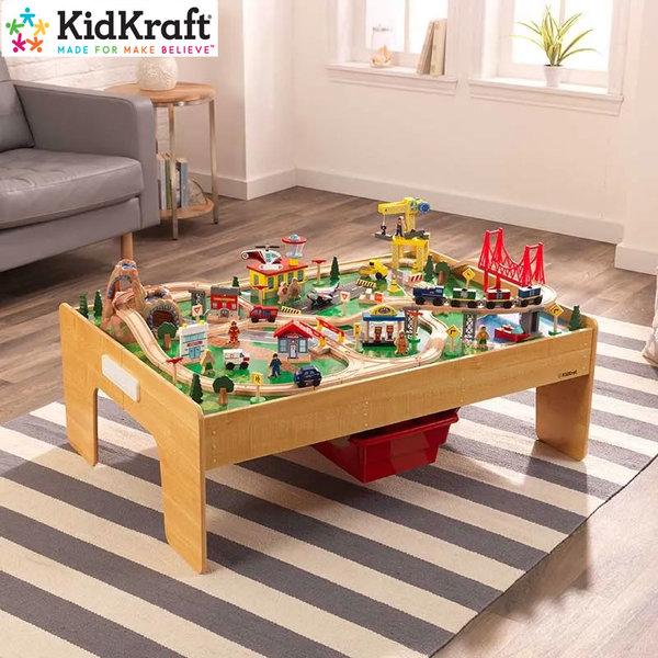 KidKraft Детски дървен град с влакче и маса 18025