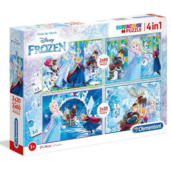 Clementoni Пъзел 3+ Disney Замръзналото кралство 4в1 7614
