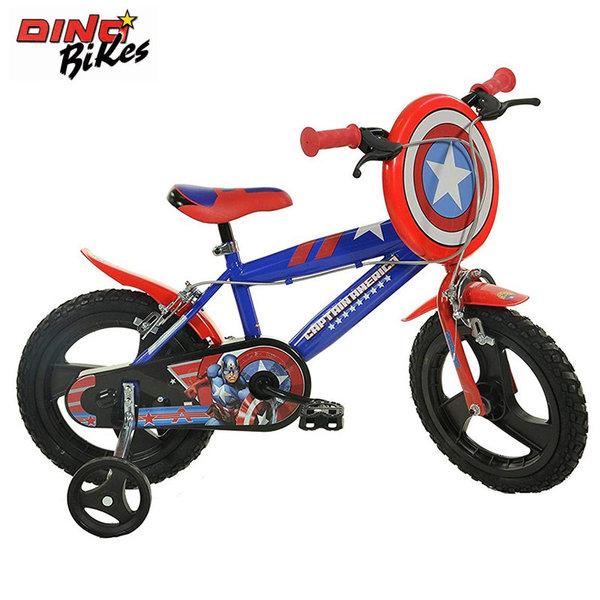 """Dino Bikes Детско колело 14"""" Marvel Avengers Капитан Америка 120119560"""