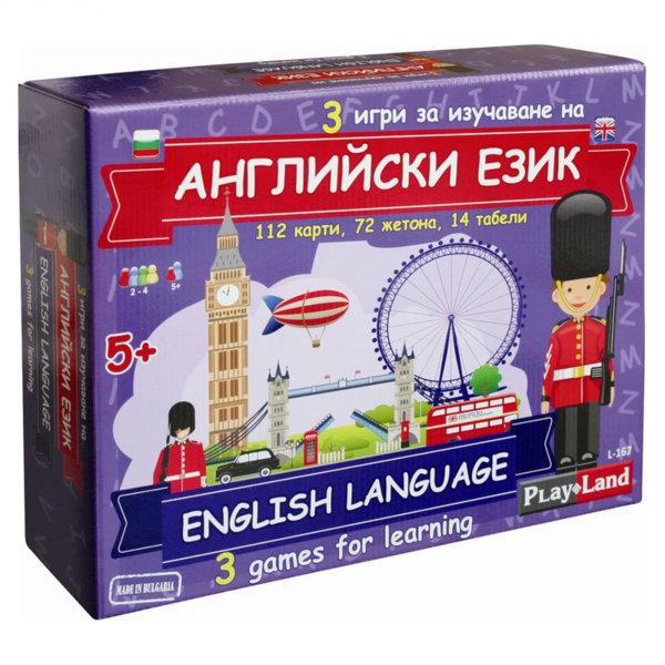 PlayLand Детска образователна игра 3в1 Английски език L-167