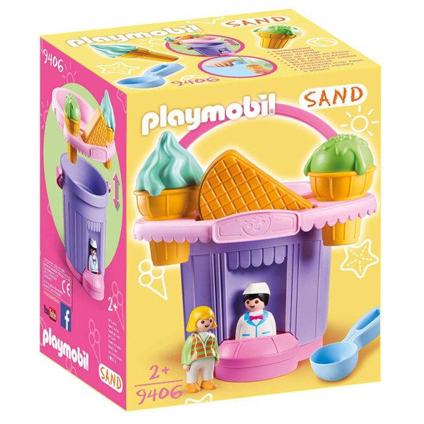 Playmobil Магазин за сладолед с кофа, сито и формички за пясък 9406