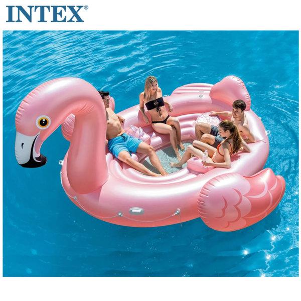 Intex Надуваем мега остров Фламинго 57267