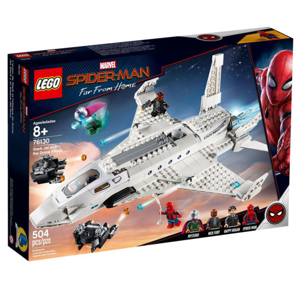 Lego 76130 SpiderMan Старк джет и нападение с дрон