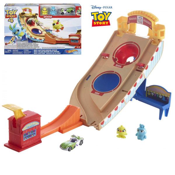 Hot Wheels® Disney Toy Story Писта с количка Баз Светлинна Година и мини фигурки GCP24