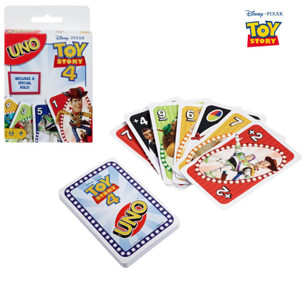Disney Toy Story Детски карти за игра Uno Играта на играчките GDJ88