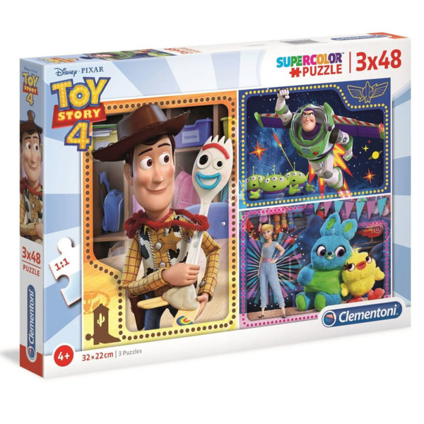 Clementoni Пъзел 4+ Disney Toy Story Играта на играчките 3в1 25242