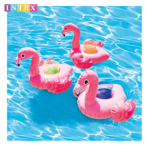 Intex Комплект поставки за чаши надуваеми фламинги 57500
