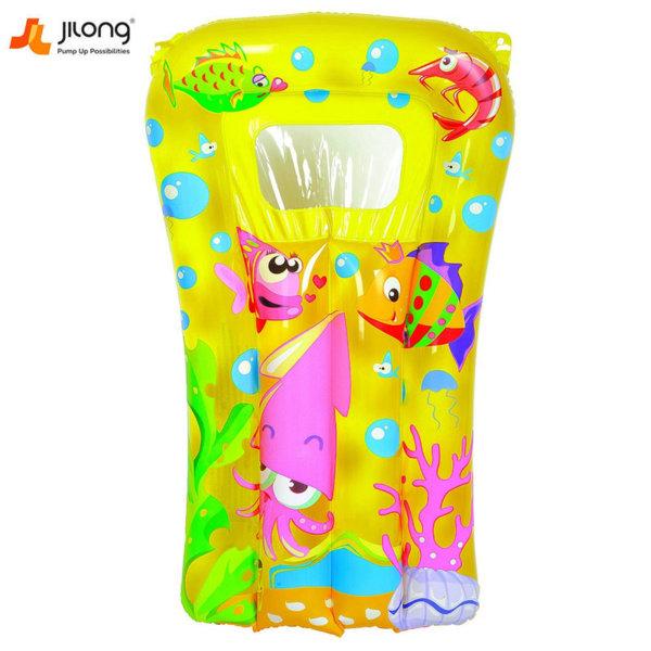 Jilong Детски надуваем дюшек жълт 27016