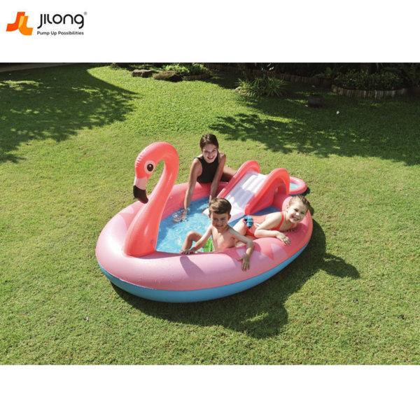 Jilong Детски надуваем център с пързалка Фламинго 57133