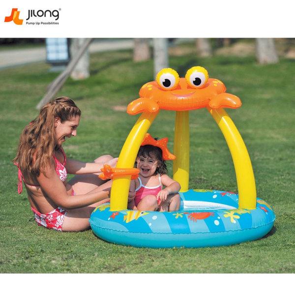 Jilong Бебешки надуваем басейн със сенник и надуваемо дъно Раче 17392