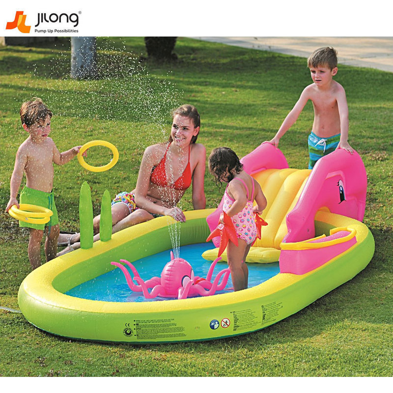 cf044b2a2e6 Jilong Надуваем център с басейн и пързалка слонче 97009 - Детски играчки от  igra4kite.com