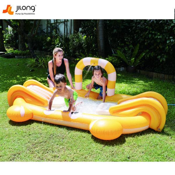 Jilong Надуваем център с басейн и 2 пързалки раче 57132