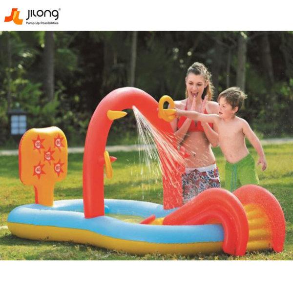 Jilong Надуваем център с басейн и пързалка 97224