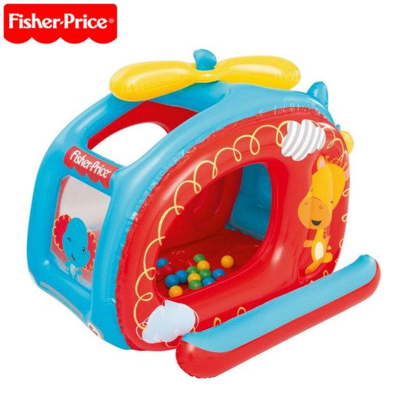 Fisher Price Детски надуваем хеликоптер с 25 топки 93502