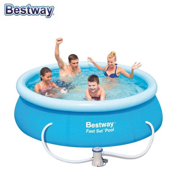 Bestway Надуваем басейн 244х66см с филтърна помпа 57268