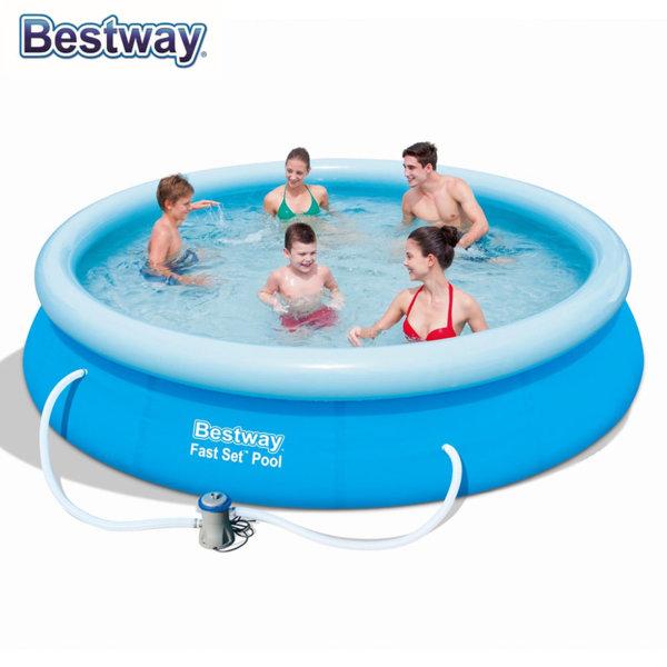 Bestway Надуваем басейн 366х76см с филтърна помпа 57274