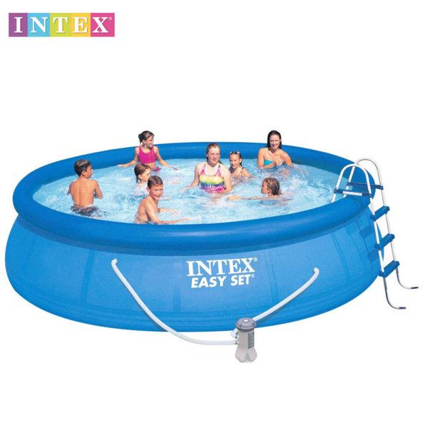Intex Надуваем басейн Easy Set 457x107см с филтърна помпа и стълба 28166