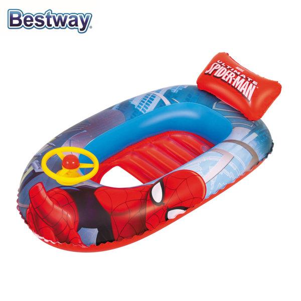 Bestway SpiderMan Детска надуваема лодка Спайдърмен 98009