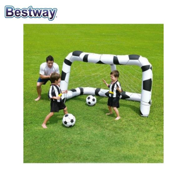 Bestway Надуваема футболна врата с 2 топки 52028