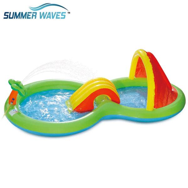 Summer Waves Надуваем център с пързалка Остров 230816