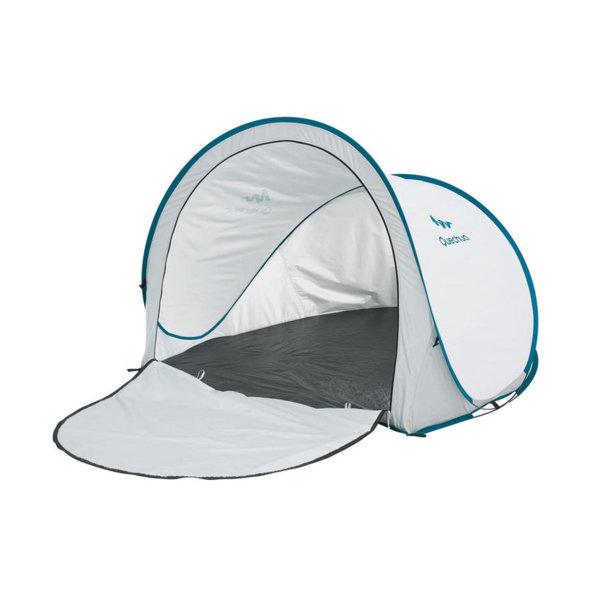 Слънцезащитна палатка/заслон за къмпинг и плаж UPF 50+ бяла 81519