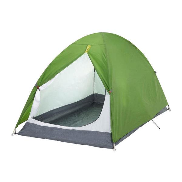 Двуместна двустенна палатка за къмпинг зелена 84419