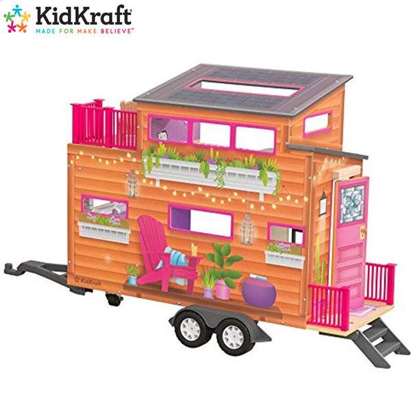 KidKraft Детска дървена куклена къща на колела Teenyhouse 65948