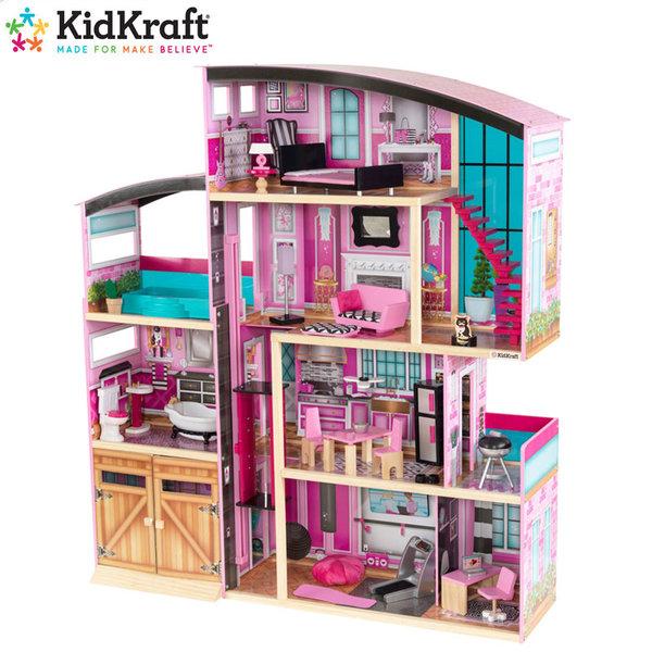 KidKraft Детска дървена куклена къща Shimmer 65949